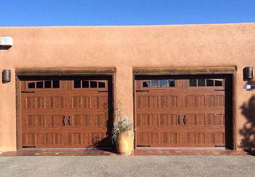 Amarr Oak Summit Recessed Walnut Residential Garage Door Services