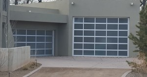 Aluminum glass contemporary garage doors