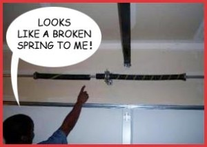 broken garage door springGarage Door Spring Repair  Albuquerque NM