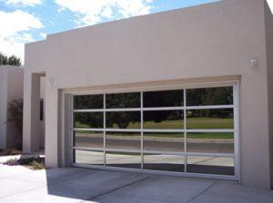 Residental glass garage door