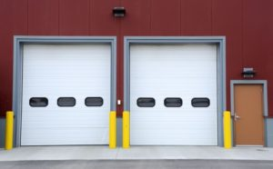 wht doors 300x186 Sectional Overhead Garage Doors