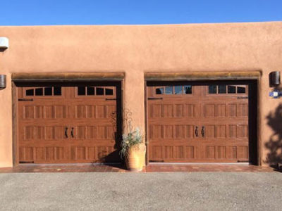 Amarr Garage Door Oak Summit Recessed Walnut Albuquerque 400x300 Residential Products