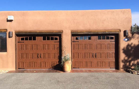 Amarr Garage Door Oak Summit Recessed Walnut Albuquerque Residential  Products