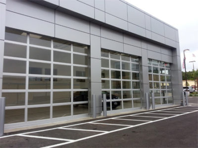 aluminum glass garage doors 400x300 Commercial Products
